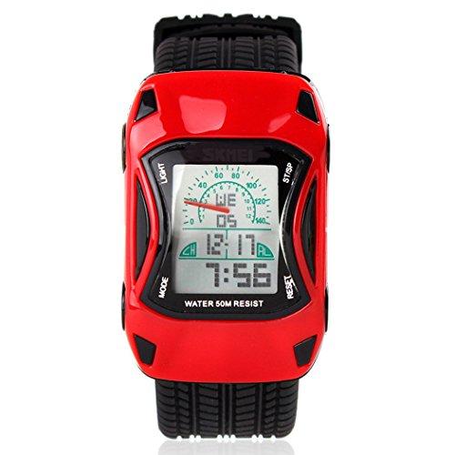 topcabin Kinder Uhr Fashion der neue Trend Wasserdicht Studenten feine Armbanduhr rot