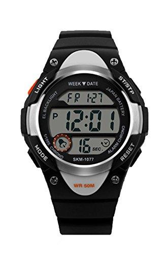 topcabin Fashion Studenten Armbanduhr Wasserdicht Armbanduhr Outdoor Military Uhren Multifunctional Bewegung Armbanduhr schwarz