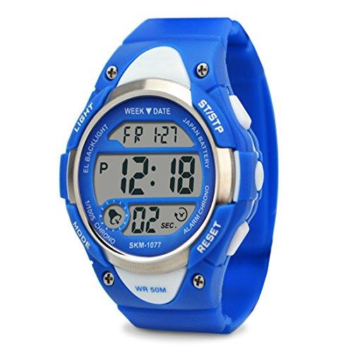 topcabin Fashion Studenten Armbanduhr Wasserdicht Armbanduhr Outdoor Military Uhren Multifunktional Bewegung Armbanduhr blau