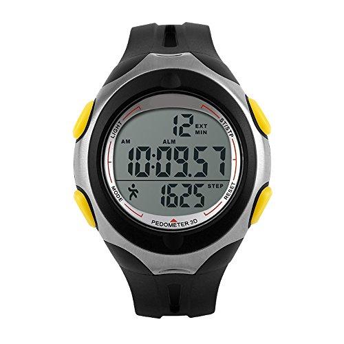 topcabin Herren und Frauen Wasserdicht Schritt Gauge Watch Elektronische Multifunktions Outdoor Sport Schwimmen Mode Uhren gelb