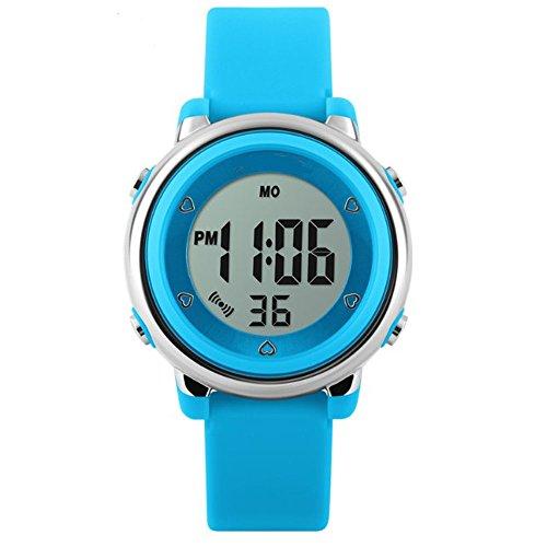 topcabin Wasserdicht Armbanduhr Kinder Uhr Handgelenk von Jungen und Maedchen Studenten Jelly Farbe Fashion Persoenlichkeit blau