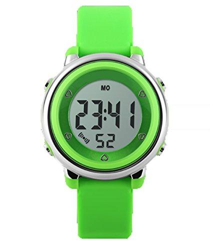 topcabin Wasserdicht Armbanduhr Kinder Uhr Handgelenk von Jungen und Maedchen Studenten Jelly Farbe Fashion Persoenlichkeit gruen