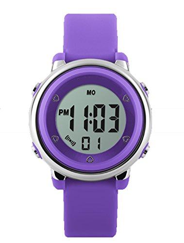 topcabin Wasserdicht Armbanduhr Kinder Uhr Handgelenk von Jungen und Maedchen Studenten Jelly Farbe Fashion Persoenlichkeit lila