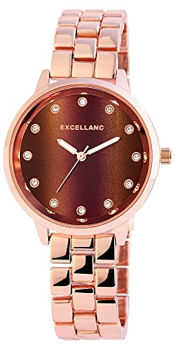 Quarz Uhr Armbanduhr Crytalbesatz Metallarmband Bicolor 180837600007