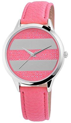Armbanduhr Kunstlederarmband L 23cm Br 18mm Dornschliesse 195025500205