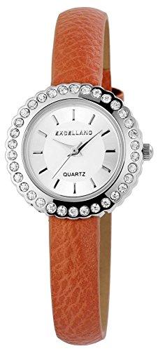 Armbanduhr Bicolor Kunstlederband 20cm Beige Dornschliesse 195623100018
