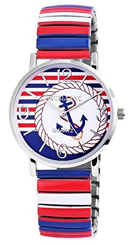 Armbanduhr Metallzugband Br 18mm Mehrfarbig 170628900007