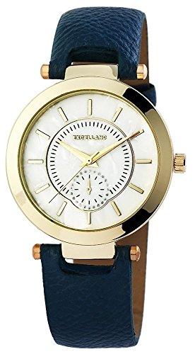 Uhr Bicolor Kunstlederband 22cm Dunkelblau Dornschliesse 195003000202