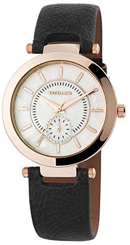 Uhr Bicolor Kunstlederband 22cm Dunkelbraun Dornschliesse 195031600202