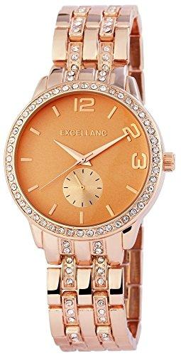 Uhr Rosa Metallarmband 21cm Faltschliesse Rosegoldfarbig 180335500035