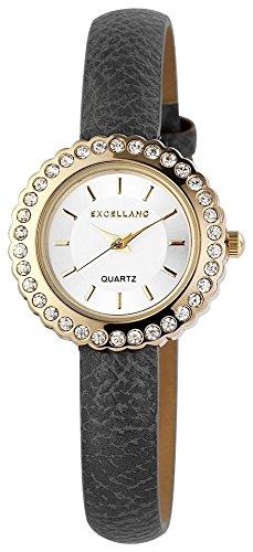 Uhr Silberfarbig Kunstlederarmband 20cm Grau Dornschliesse 195601500018