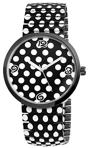 Excellanc Damen Zugband Uhr Armbanduhr Metallzugband