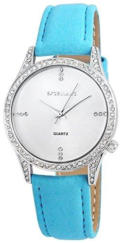 Excellanc mit Lederimitationarmband Armbanduhr Uhr 195222600031