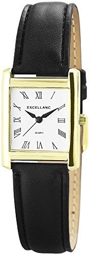 Excellanc mit Lederimitationsarmband Weiss Uhr Armbanduhr 290002000046