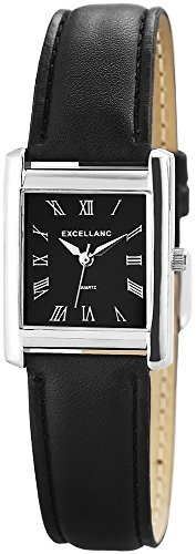 Excellanc Damenuhr Lederimitationsarmband Schwarz Uhr Armbanduhr 290021000046