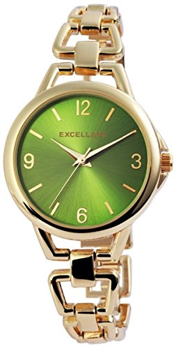 Excellanc mit Metallarmband Armbanduhr Uhr Gruen 151006000009