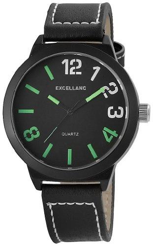 Excellanc Herren Armbanduhr XL Analog Quarz Leder 295071100120