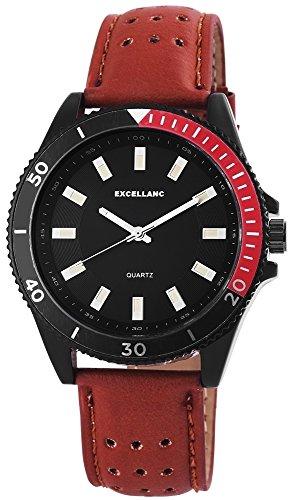Uhr Schwarz Kunstlederband 24cm Dornschliesse Hellbraun 295171000008