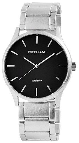 Uhr Schwarz Metallarmband 19cm Silberfarbig Faltschliesse 280621000011