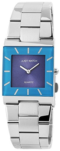Blau Edelstahlarmband Silberfarbig 18cm Faltschliesse JW10757 BL
