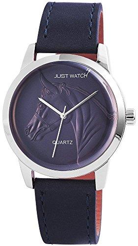 Unisexuhr Armbanduhr Lederarmband 24cm Dornschliesse Blau JW10232 BL