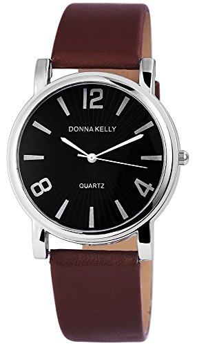 Donna Kelly Analog Leder 38 mm Braun 191221000011