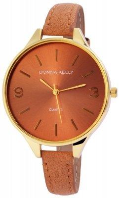 Donna Kelly Damenuhr Kunstleder Farbe Gold Braun Hellbraun Trend Modern 191007500005