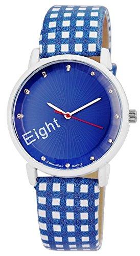 Donna Kelly Blue Clock Trendy Women Watch analoge Pu Leder Quartz