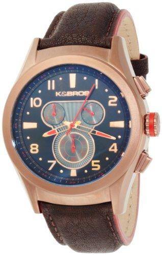 K BROS Maenner 9455 3 Stahl Luna Chronograph Brown Ion Plated Uhr
