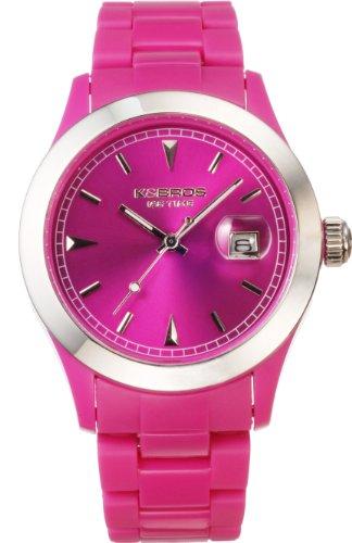 K BROS Unisex 9539 3 Ice Time Farbe Zeit Violet Uhr