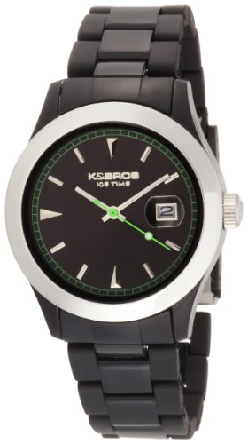 K BROS Unisex 9541 2 Ice Time Full Color Black Watch