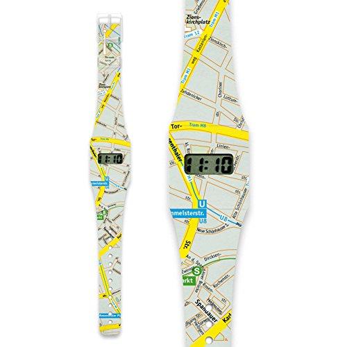LOST IN BERLIN CLASSIC Pappwatch Armbanduhr aus reissfestem und wasserabweisendem TYVEK