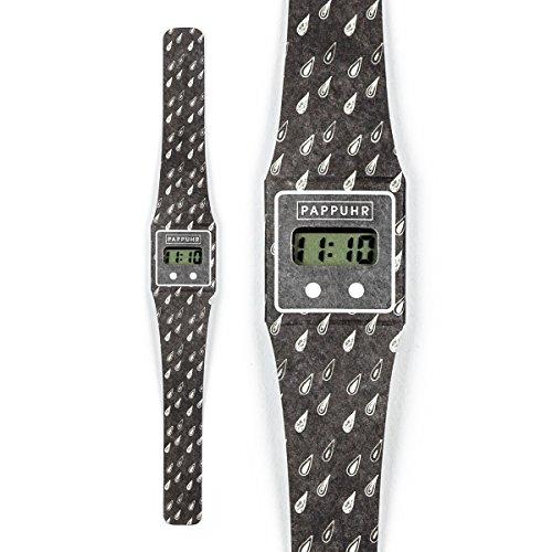 THE DARK ZEIT Pappwatch Armbanduhr aus reissfestem und wasserabweisendem TYVEK