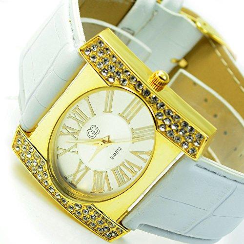 Wunderschoene Elegante in Gold Weiss mit Strasssteine al 513