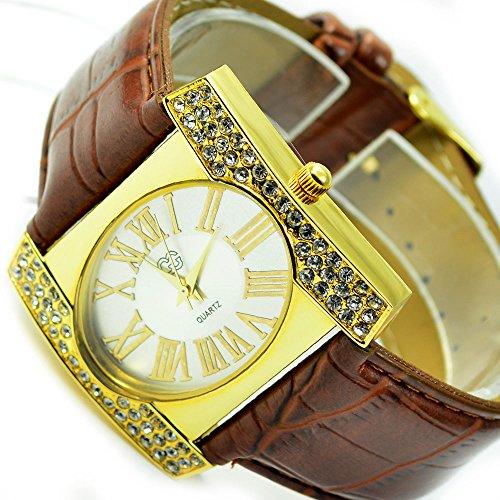 Wunderschoene Elegante in Gold Braun mit Strasssteine al 513