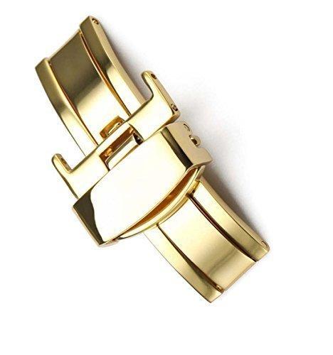 14 mm Faltschliesse aus Edelstahl Farbe Gold