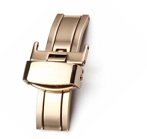 20 mm Faltschliesse Do Edelstahl Farbe Gold Rosa