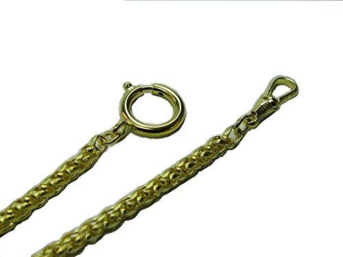 MTS Taschenuhrkette Zopf 5 mm vergoldet 9030 25 hochwertig veredelt 30 cm