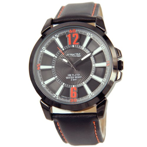 Q Q DA06J502 Armbanduhr Quarz Analog Armband Haut schwarz