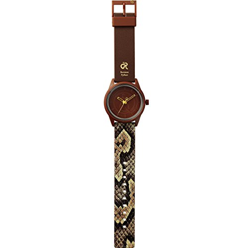 Q Q SmileSolar Python Unisex Solar Uhr mit Plastik armband Analog Quarz RP00J035