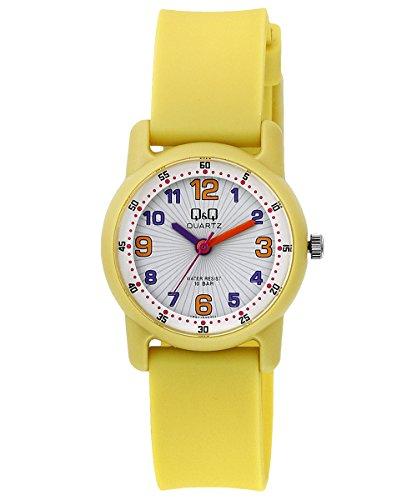 Q Q Reloj ninos ninas senora sumergible con numeros arabes en varios colores fabricado por Citizen