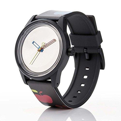 Q Q Solar Smile Unisex Solar Uhr mit Plastik armband Analog Quarz RP00J020