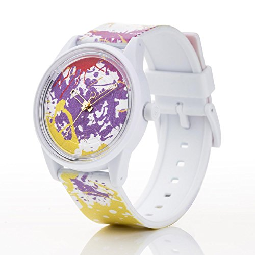 Q Q Solar Smile Unisex Solar Uhr mit Plastik armband Analog Quarz RP00J021