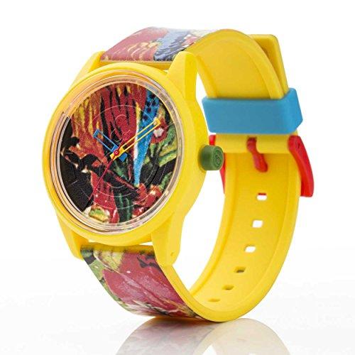 Q Q Solar Smile Unisex Solar Uhr mit Plastik armband Analog Quarz RP00J025