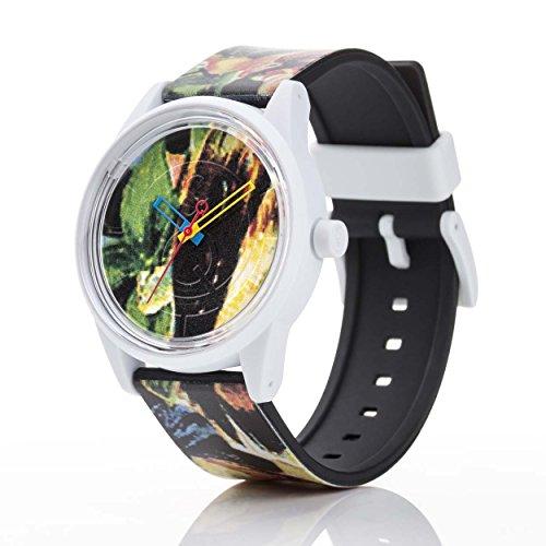 Q Q Solar Smile Unisex Solar Uhr mit Plastik armband Analog Quarz RP00J026