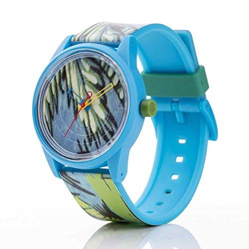 Q Q Solar Smile Unisex Solar Uhr mit Plastik armband Analog Quarz RP00J027