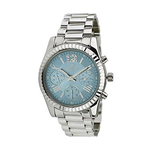 Uhr Zzero Unisex zz5011 C Quarz Batterie Stahl Quandrante hellblau Armband Stahl