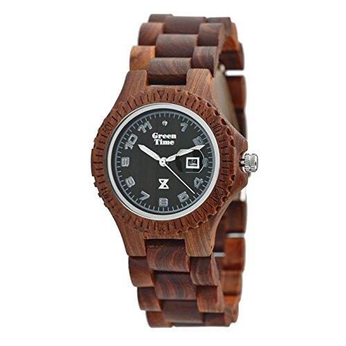 Uhr Zzero Green Time zw006 a Quarz Holz Quandrante braun Armband Holz