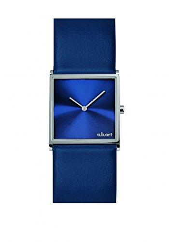 a b art Damenuhr blau mit Saphirglas E109