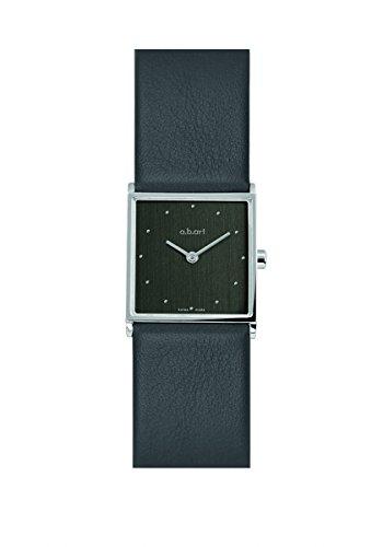 a b art Damenuhr schwarz mit Saphirglas ES502